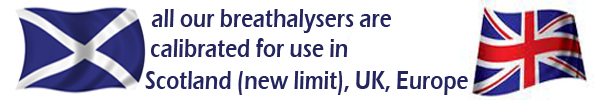 All breathalyzers suitable for use in Scotland (new limit), UK and Europe