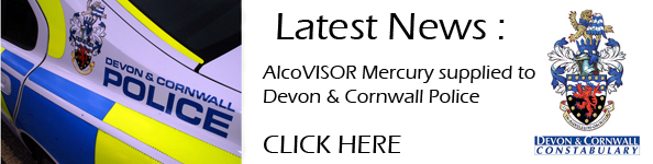 Alcovisor Mercury supplied by Breathalyser Direct to Devon & Cornwall Police