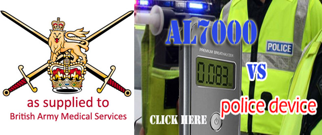 AL7000 as supplied to British Army Medical Services by Breathalyser Direct